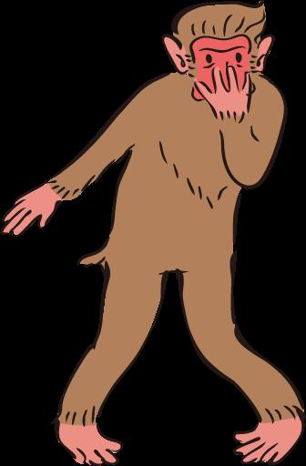 ジョジョ立ちの猿